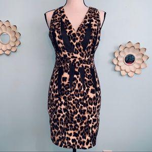 Esley Animal Print Form Fitting Dress